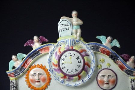 Antique Staffordshire pottery pearlware group  Prepare to meet thy God,  Obadiah Sherratt