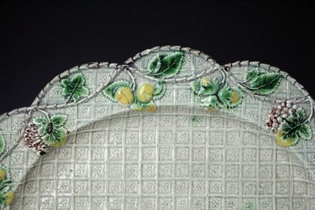 English pottery Whieldon type oval dish mid 18th century Staffordshire