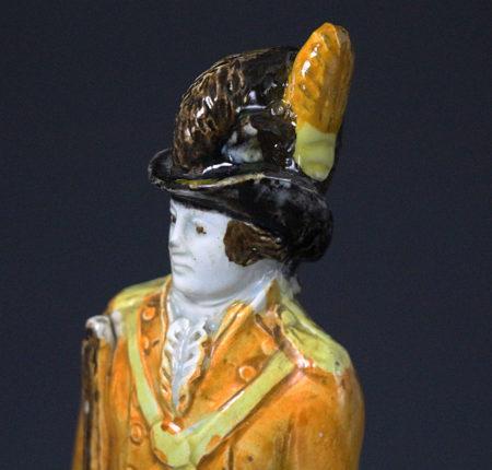 Prattware pottery figure of a Military Loyal Volunteer circa 1800